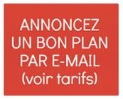 Annoncez un bon plan par E-mail