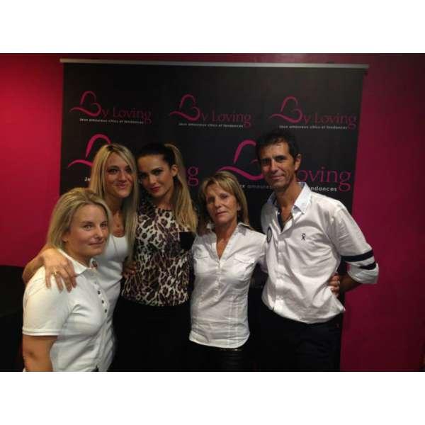 Inauguration du Love Store Aix en Provence avec Clara Morgane, l'équipe de Tours et d'aix en Provence